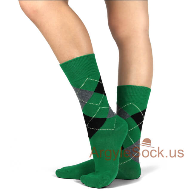 junior groomsmen socks green