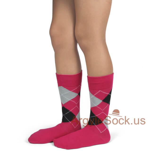 junior groomsmen socks hot pink and black
