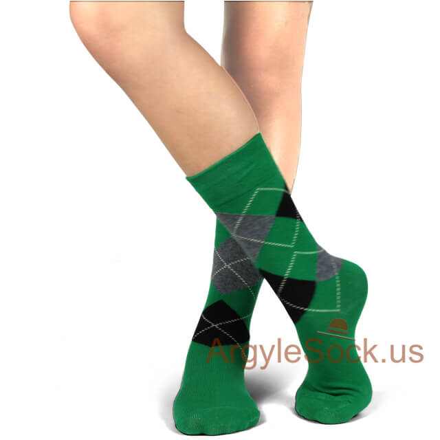 junior groomsmen's socks green black