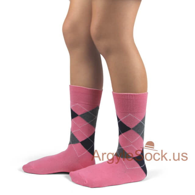 junior socks pink black
