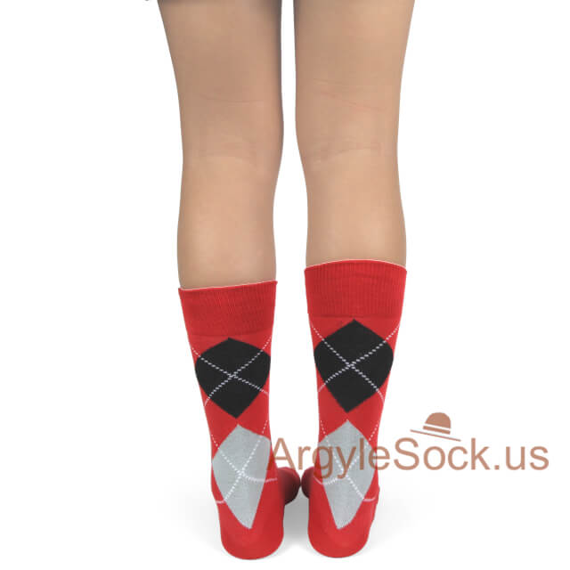 junior groomsmen's socks red black