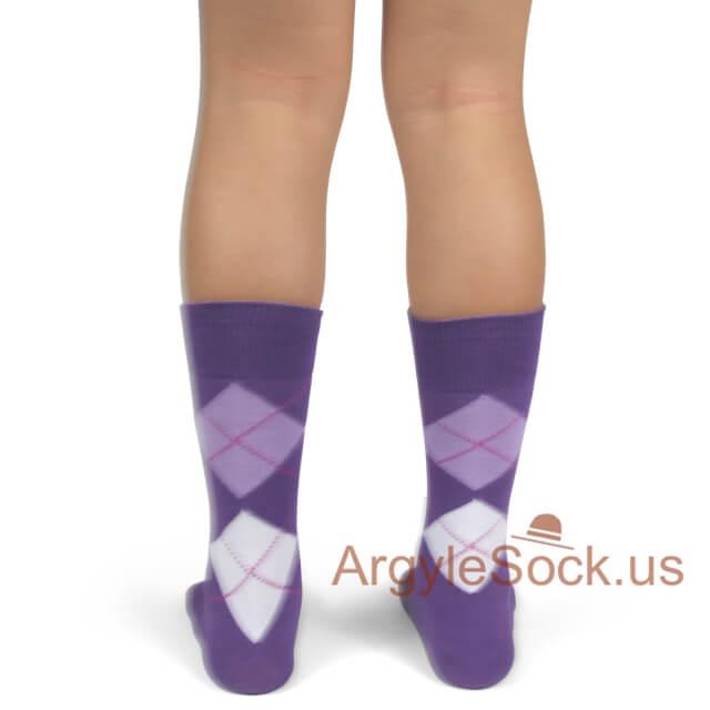 youth wedding socks purple green