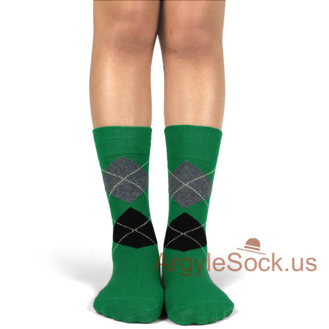 youth wedding socks green