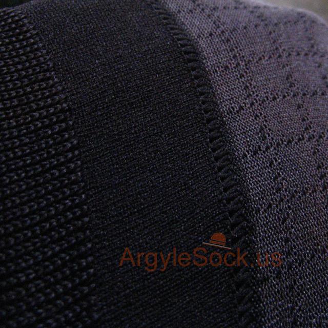 black plaid check socks for men