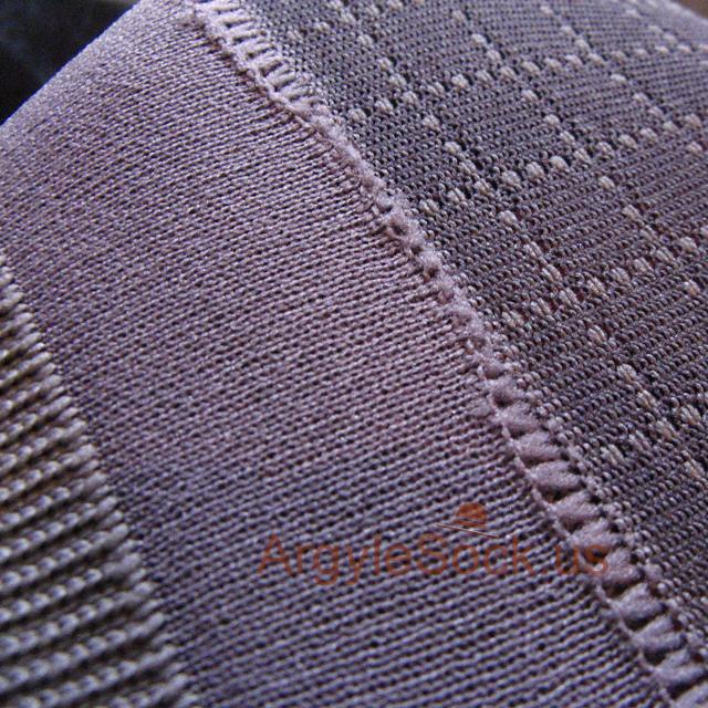 gray plaid check socks for_men