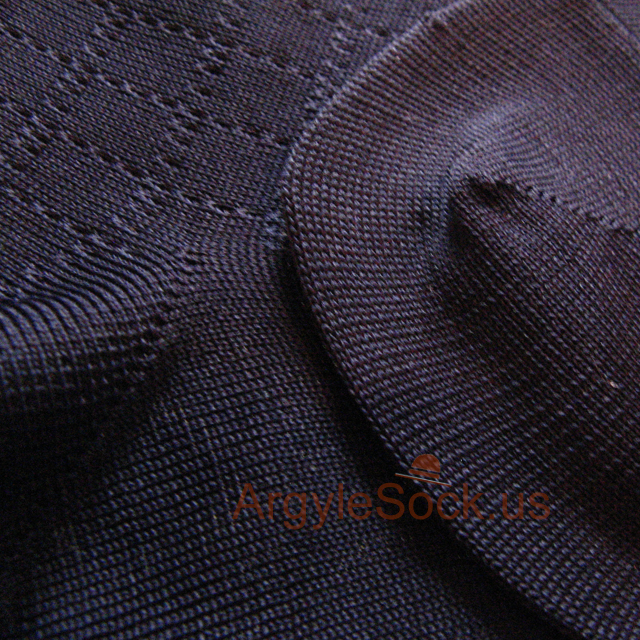 navy blue plaid check men's socks