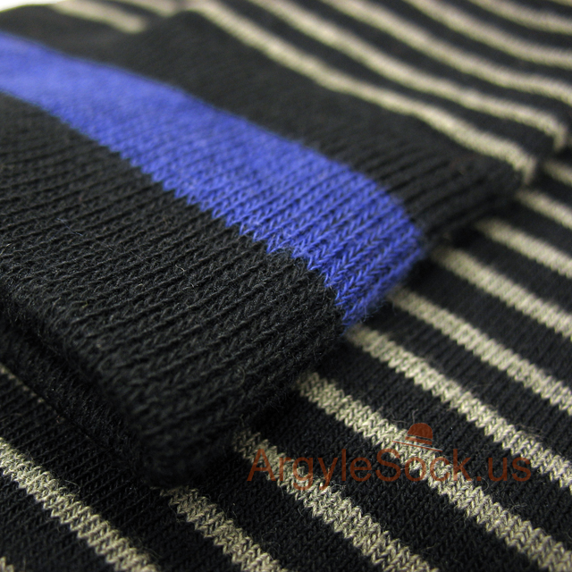 black blue gray stripe men sock