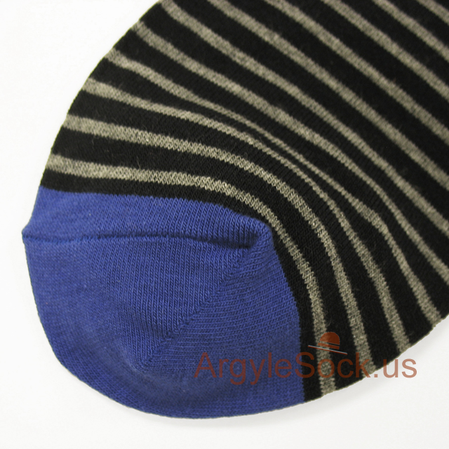 black blue grey stripes men sock