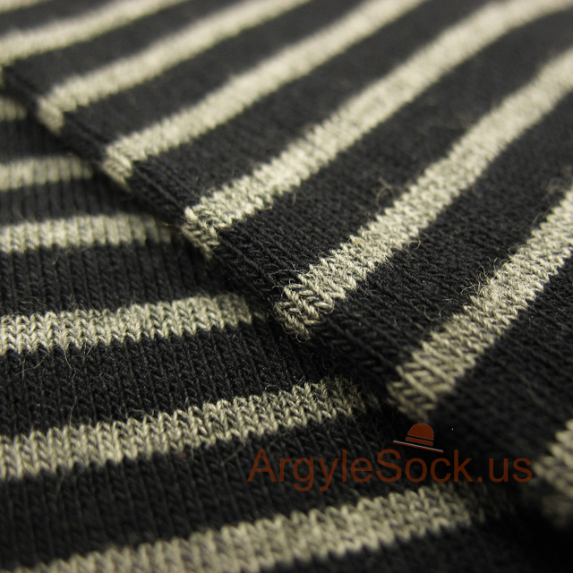 black blue grey stripes mens sock