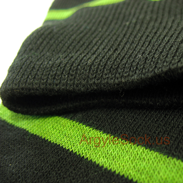 Lime Green Striped Black Men\'s Dress Socks Groomsmen Socks Gift ...
