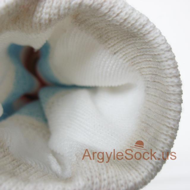 off-white light blue red stripe mens sock
