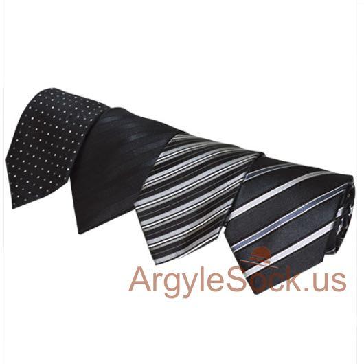 black silver gray grey striped groomsmen mans tie