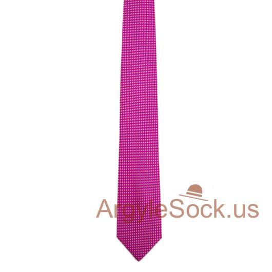 hot pink textured groomsmen mens tie for wedding