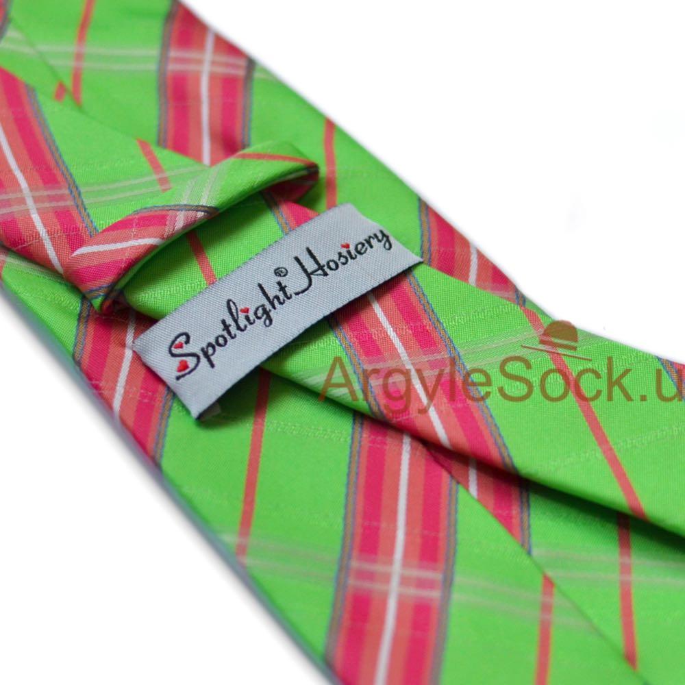 mint green/apple green and pink necktie for groomsmen