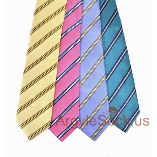 striped groomsmen ties for wedding