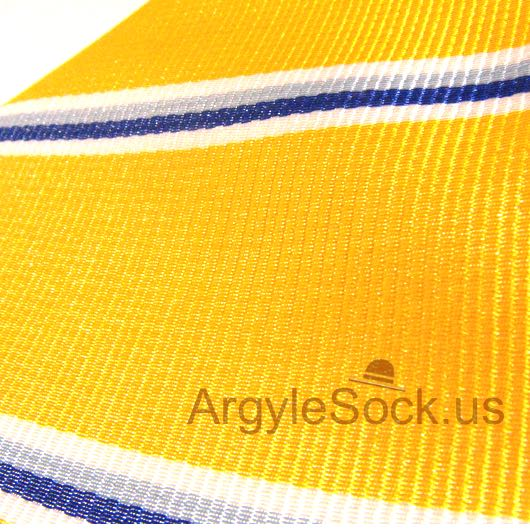 yellow and blue striped groomsmen tie
