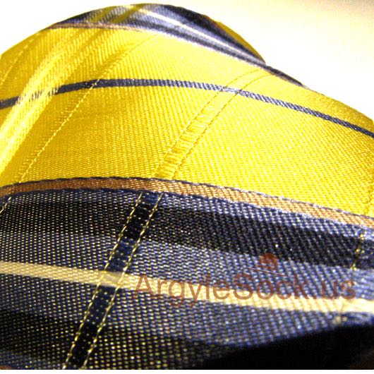 yellow navy plaid checkered necktie for wedding