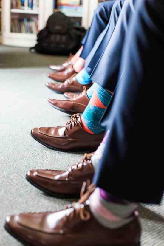 light grey purple groomsmen socks