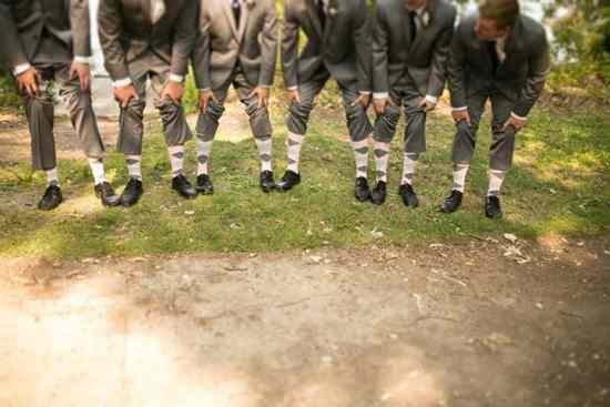 light pink gray groomsmen socks