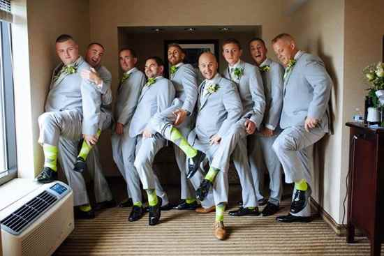 lime green gray light limegreen groomsmen socks
