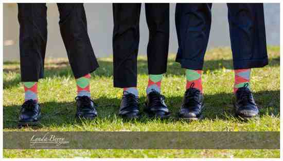 coral mint green gray groomsmen socks