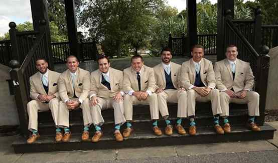 aqua beige heather midnight groomsmen socks