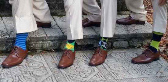 Green Blue Light Blue Gray groomsmen socks