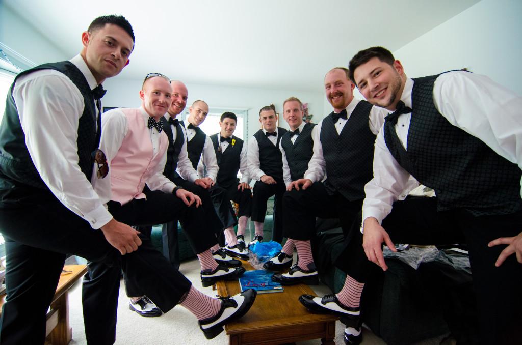 groomsmen pink socks
