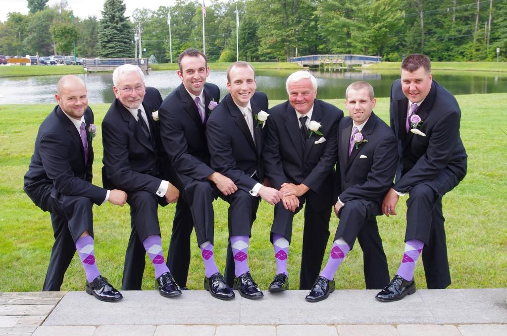 lavender groomsmen sock