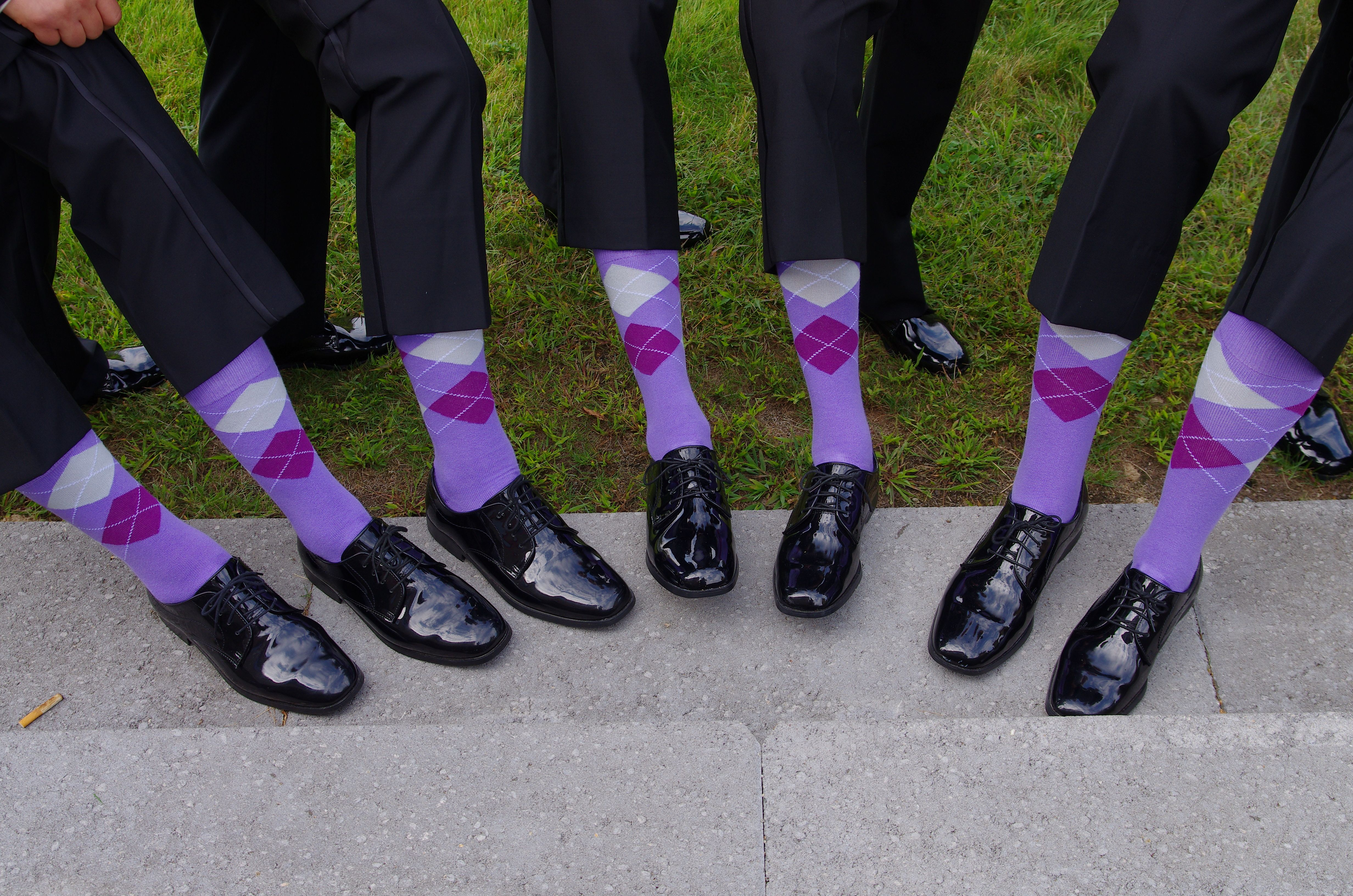 socks for groom | ArgyleSock.us Customers Pictures (Wedding Picture ...