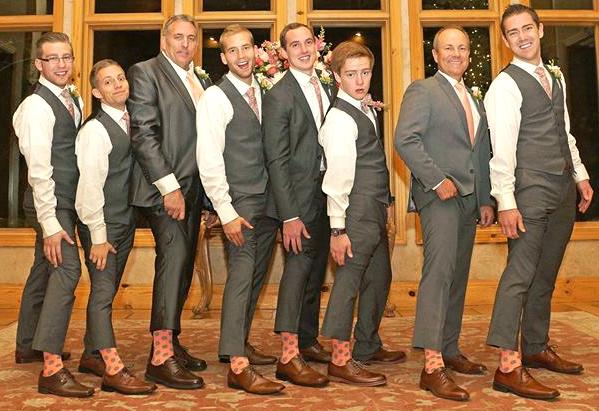 blue gray groomsmen socks