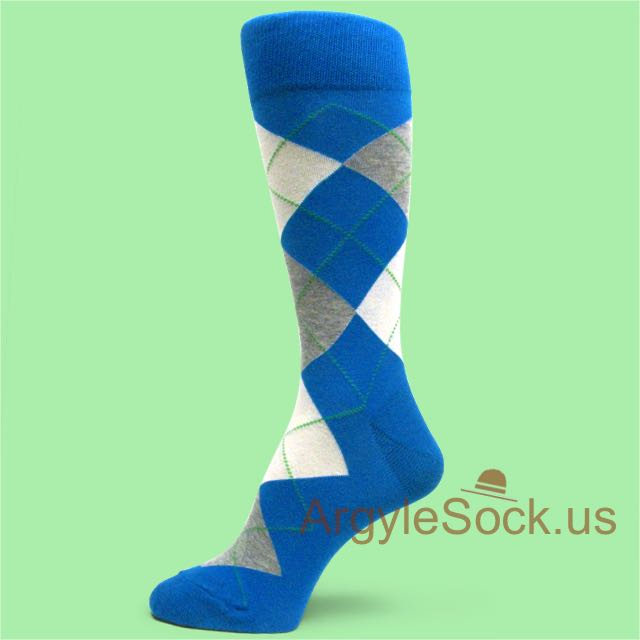 Blue with Red&ampHeather Champagne Color Argyles Men&39s Dress Socks ...
