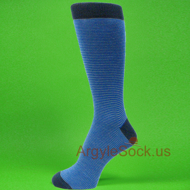 Pink and blue dress socks