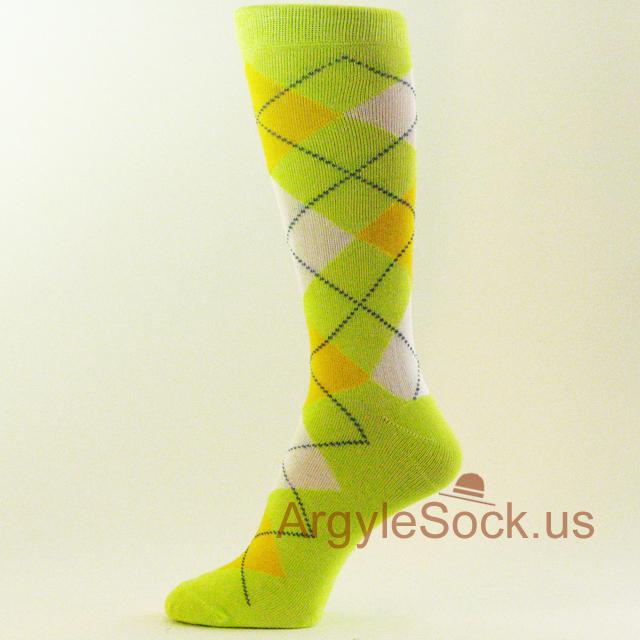 Bright Lime Green Groomsmen Socks