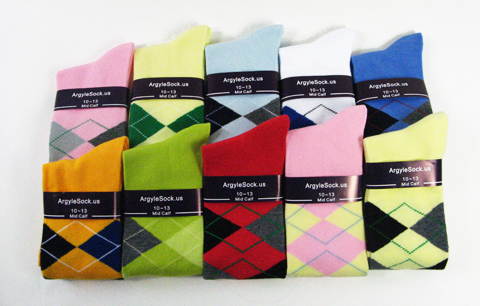 Dress argyle socks for men