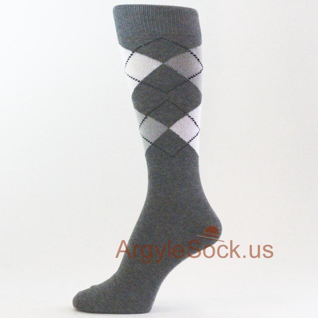 charcoal/dark gray men's socks