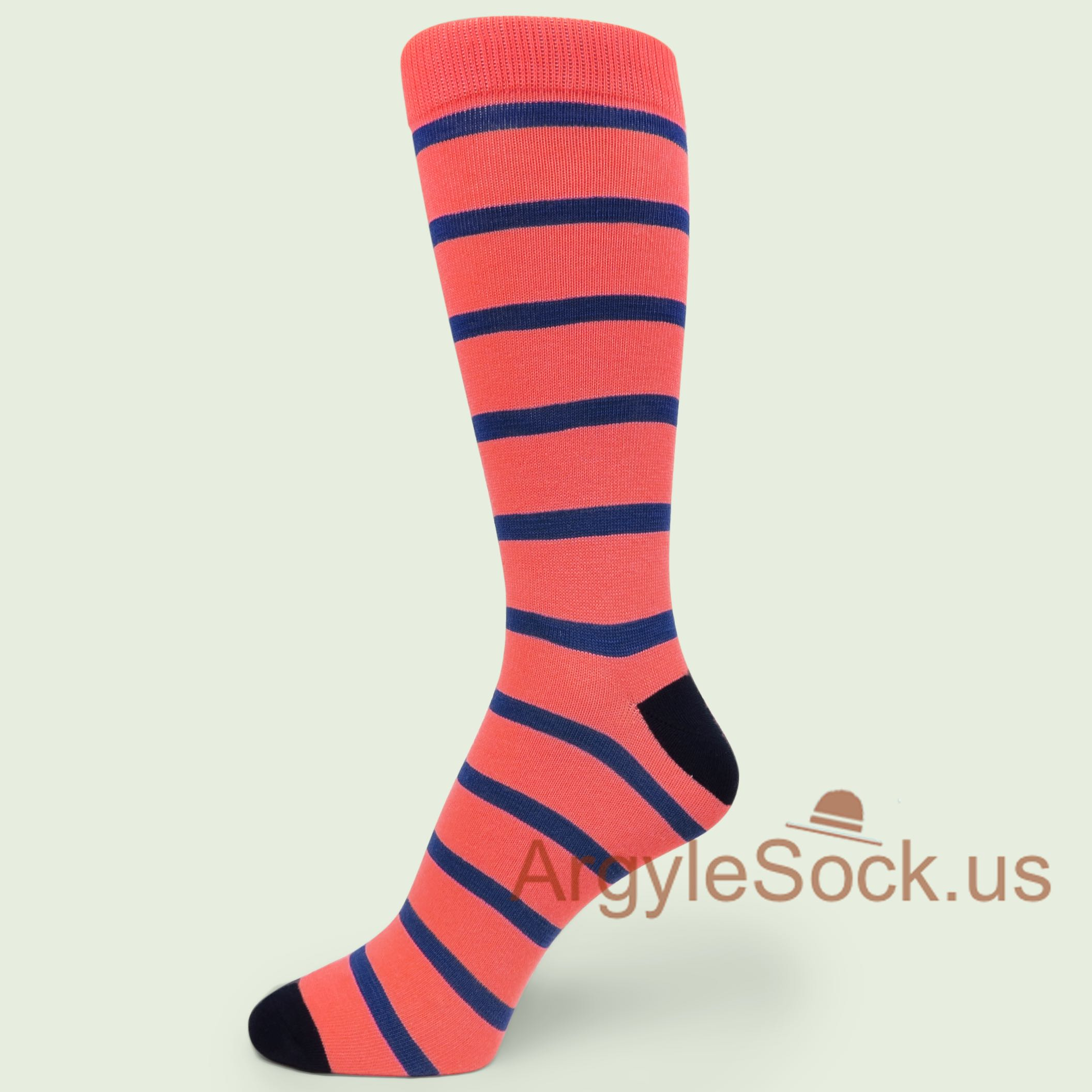 Men's Stripe Dress Socks with Bright Colors - Man's Socks Shop ...