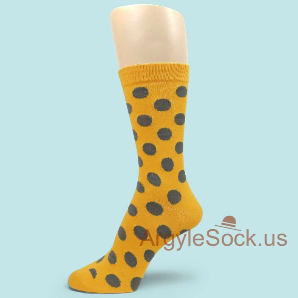 Green//Golden Yellow//Red Mid Size Stripe Groomsmen//Mens Dress Socks MA161