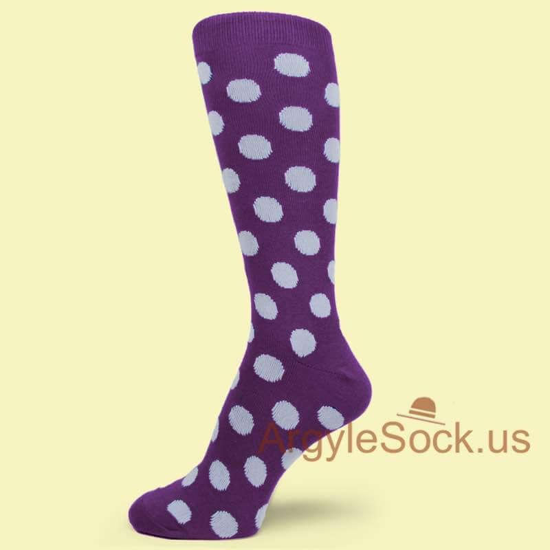 Plum colored dress socks