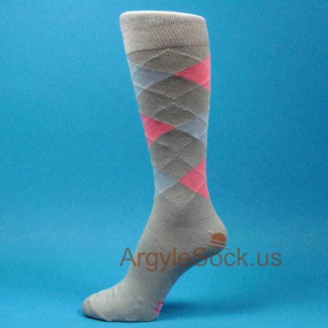 mens gray(grey)/silver dress socks