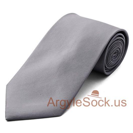 plain charcoal dark grey neck tie cheap