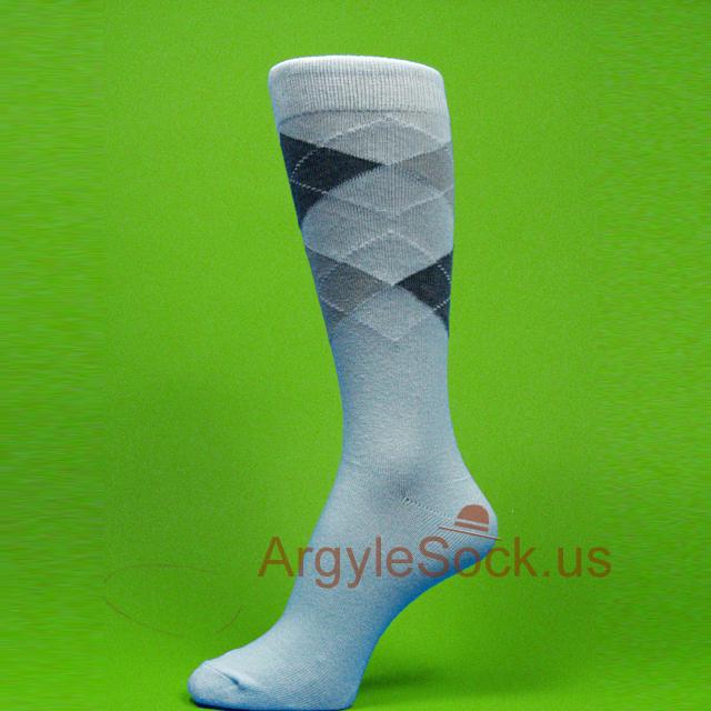 Light Blue Groomsmen Socks