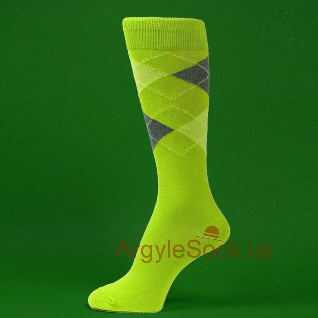 Lime Green Groomsmen Socks