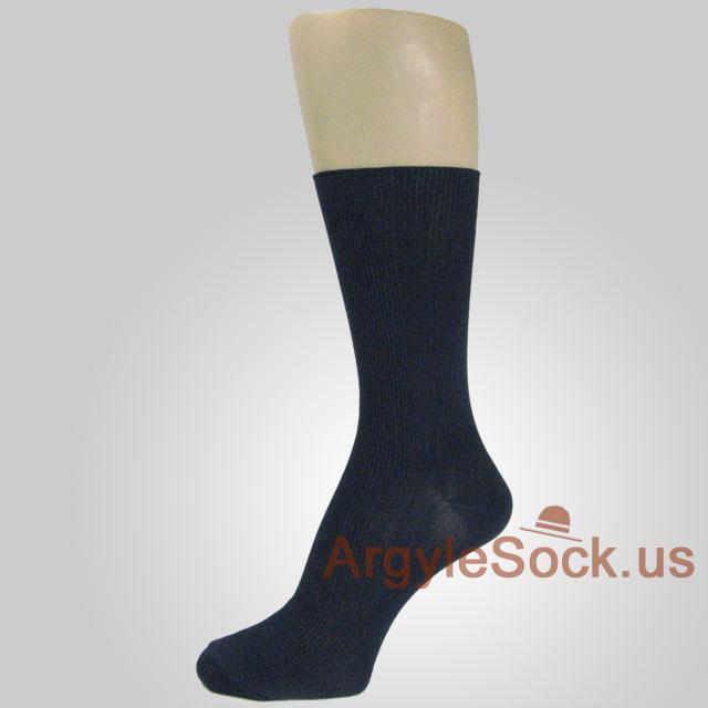 Navy Blue Dress Socks for Men Light Weight Vertical Texture ...