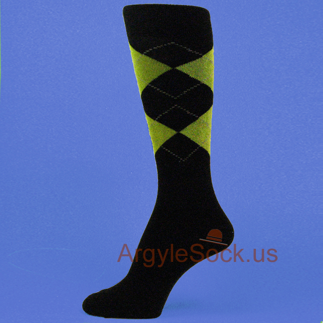 Black x Lime Green Groomsmen Socks