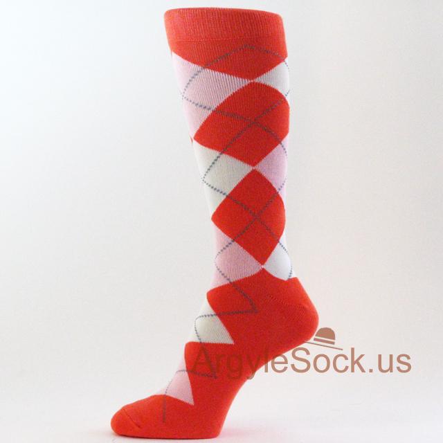 Orange Groomsmen Socks