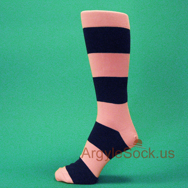 Mens Stripe Dress Socks With Bright Colors