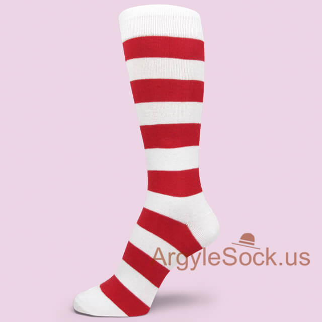 Men's Stripe Dress Socks with Bright Colors - Man's Socks Shop ...