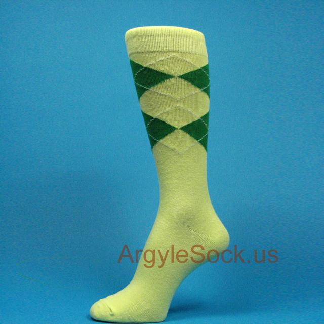 Yellow x Green Groomsmen Socks