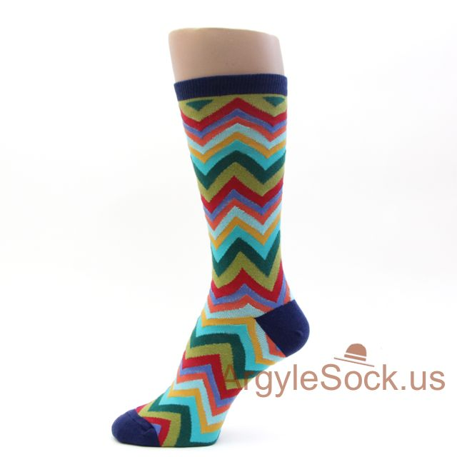 These fancy argyle dress socks for men are available in both sized and one-size versions, we also feature the rarest of all- all of our argyle socks for men are available in the Over-the-Calf length as well as the more casual crew style.
